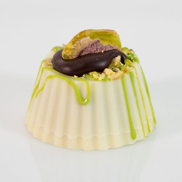 white chocolate Pistachio Bite