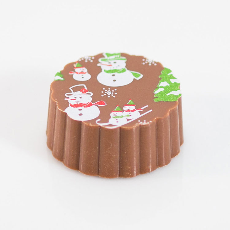 chocolate with printed Snowman